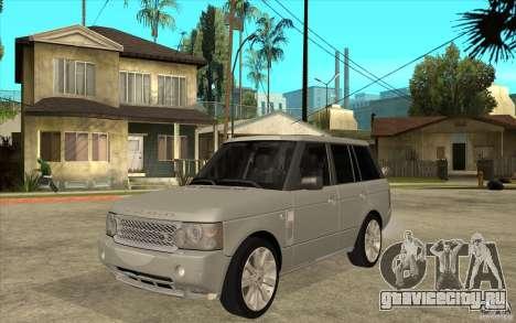 Land Rover Range Rover Supercharged 2009 для GTA San Andreas