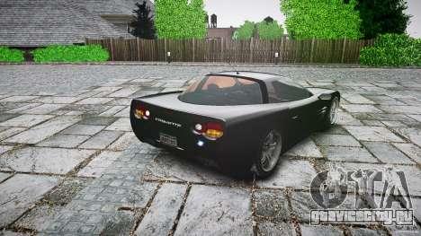 Coquette FBI car для GTA 4 вид сзади слева