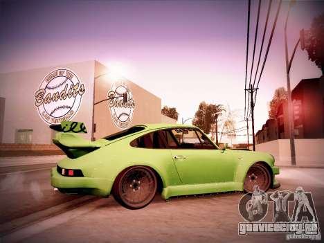 Porsche 911 Turbo RWB Pandora One для GTA San Andreas вид сзади