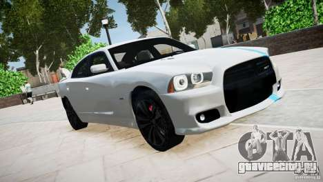 Dodge Charger SRT8 2012 для GTA 4 вид изнутри