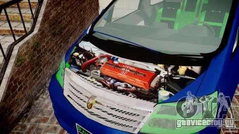 Toyota Alphard 2007 для GTA 4 вид изнутри