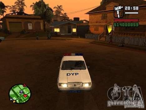 DYP 2107 police для GTA San Andreas вид слева