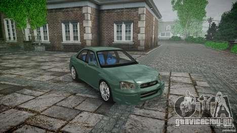 Subaru Impreza v2 для GTA 4 вид сбоку