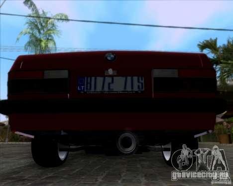 BMW 5-er E28 для GTA San Andreas вид сзади