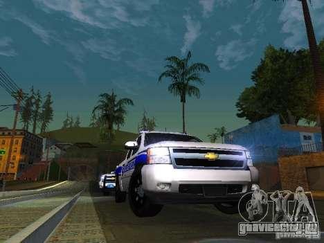 Chevrolet Silverado Rockland Police Department для GTA San Andreas вид сзади