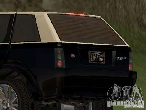 Huntley из GTA IV для GTA San Andreas вид сзади слева