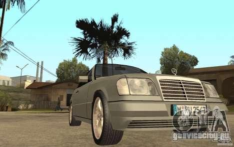 Mercedes-Benz E320 C124 Cabrio для GTA San Andreas вид сзади