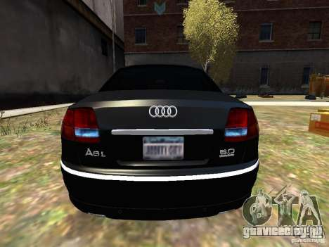 Audi A8L W12 для GTA 4 вид справа
