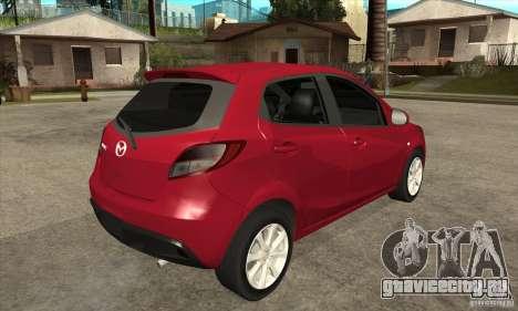 Mazda 2 2011 для GTA San Andreas вид справа