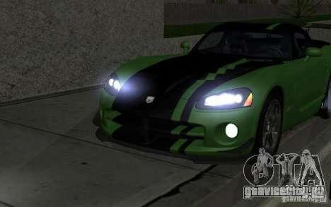 Dodge Viper немного тюнинга для GTA San Andreas вид сзади
