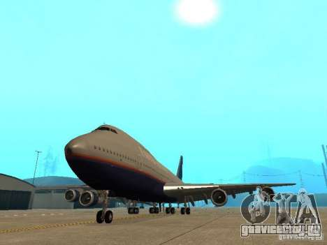 Boeing 747-100 United Airlines для GTA San Andreas вид сзади