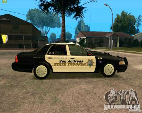 Ford Crown Victoria Police для GTA San Andreas вид слева