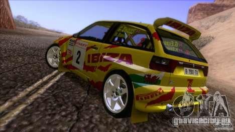 Seat Ibiza Rally для GTA San Andreas вид снизу