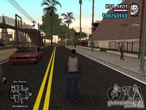 HUD by Hot Shot для GTA San Andreas второй скриншот
