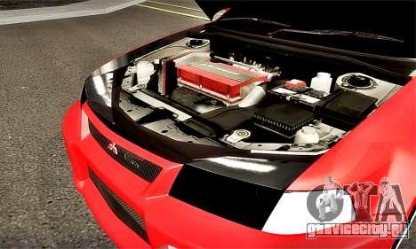 Mitsubishi Lancer Evolution 6 для GTA San Andreas вид изнутри