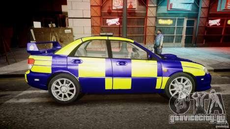 Subaru Impreza WRX Police [ELS] для GTA 4 вид изнутри