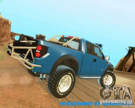 Ford F150 2011 SVT RapTor для GTA San Andreas вид снизу