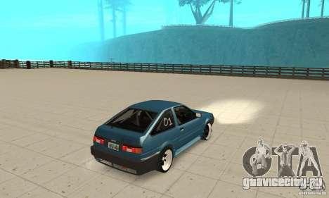 Toyota Sprinter для GTA San Andreas вид слева