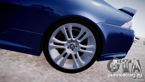 Jaguar XKR-S 2012 для GTA 4 вид изнутри