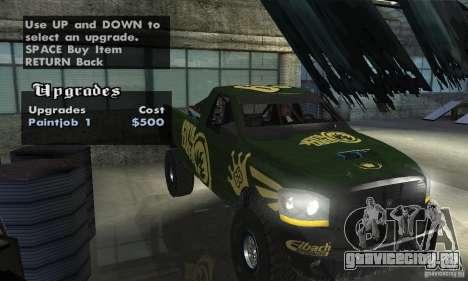 Dodge Power Wagon Paintjobs Pack 1 для GTA San Andreas вид сзади