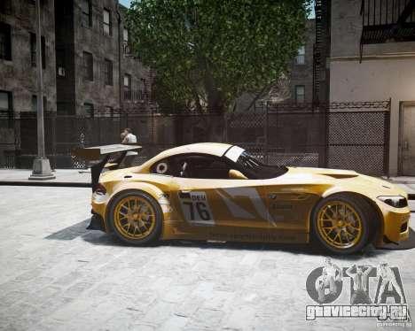BMW Z4 GT3 2010 для GTA 4 вид сзади слева