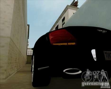 Bentley Continental GT V1.0 для GTA San Andreas вид сбоку