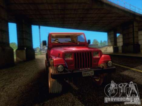 Jeep Wrangler 1994 для GTA San Andreas вид сзади