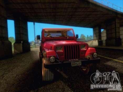 Jeep Wrangler 1994 для GTA San Andreas вид сзади