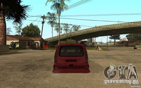 Renault Kangoo Tuning для GTA San Andreas вид сзади слева