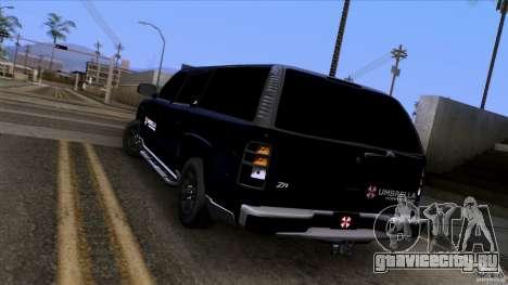 Chevrolet Suburban 2003 v2 для GTA San Andreas вид сзади слева