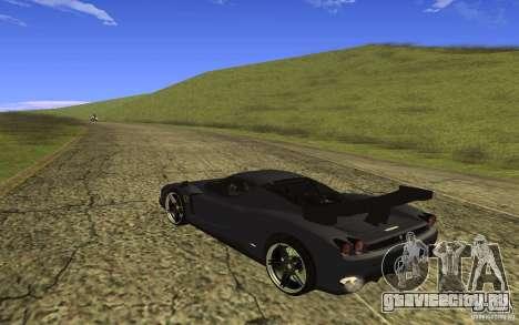 Ferrari Enzo ImVehFt для GTA San Andreas вид сзади слева