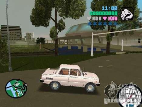 ЗАЗ 968 для GTA Vice City вид сзади слева