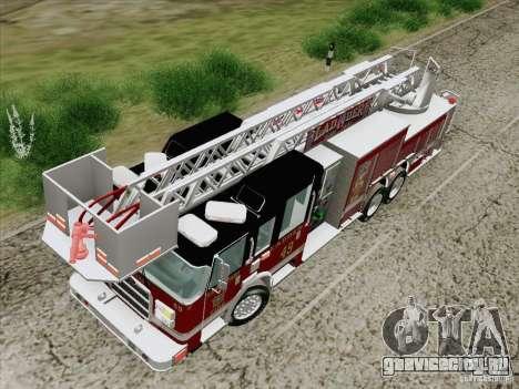 Pierce Rear Mount SFFD Ladder 49 для GTA San Andreas вид изнутри