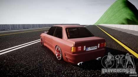 BMW E30 v8 для GTA 4 вид сзади слева