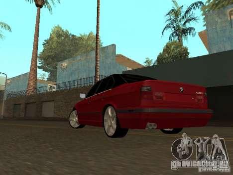BMW 540i E34 для GTA San Andreas вид сзади слева