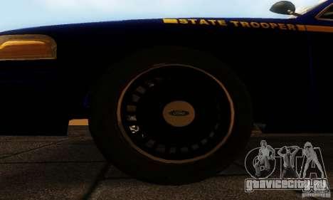 Ford Crown Victoria New York Police для GTA San Andreas вид справа