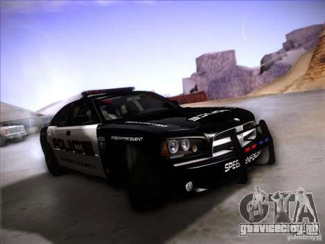 Dodge Charger RT Police Speed Enforcement для GTA San Andreas вид слева