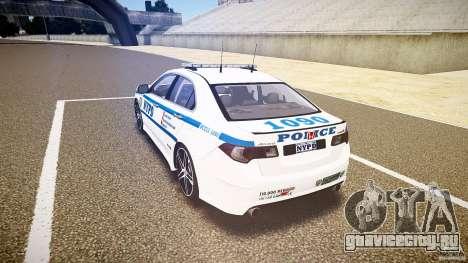 Honda Accord Type R NYPD (City Patrol 1090) ELS для GTA 4 вид сзади слева