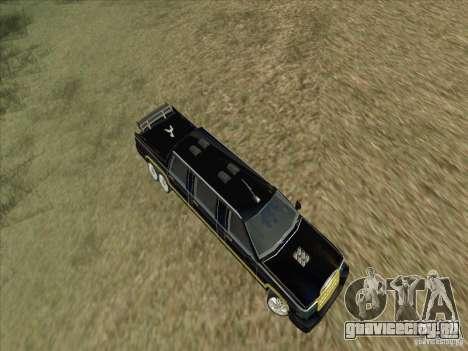 Limousine для GTA San Andreas вид изнутри