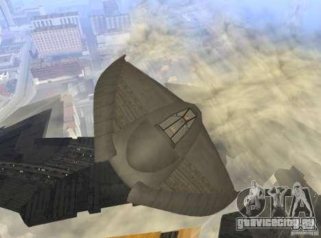 Death Glider для GTA San Andreas вид изнутри