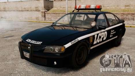 Новый Police Patrol для GTA 4 вид сзади