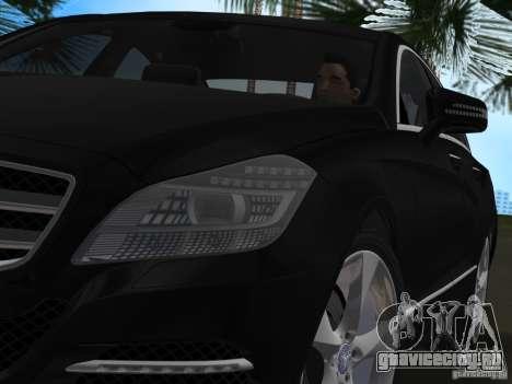 Mercedes-Benz CLS350 для GTA Vice City вид сзади слева