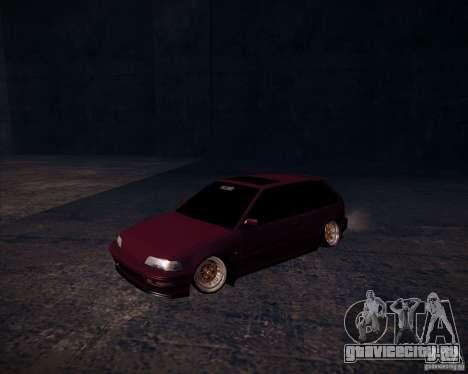 Honda Civic EF9 Hatch Stock для GTA San Andreas