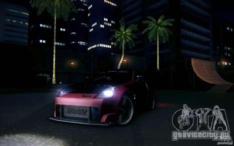 Nissan 350Z Fairlady для GTA San Andreas вид сзади