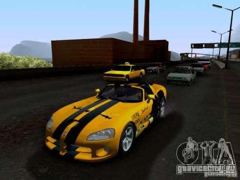 Dodge Viper SRT-10 Custom для GTA San Andreas салон