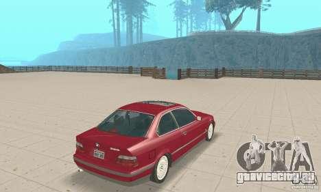 BMW 325i Coupe для GTA San Andreas вид слева