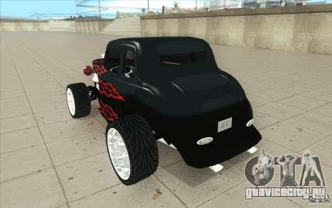 Ford Hot Rod 1934 v2 для GTA San Andreas вид сзади слева