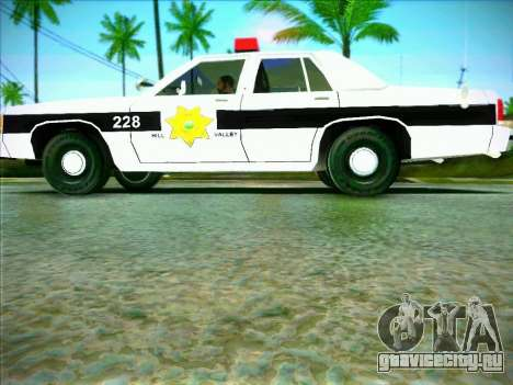 Ford Crown Victoria LTD 1991 HILL-VALLEY Police для GTA San Andreas вид слева