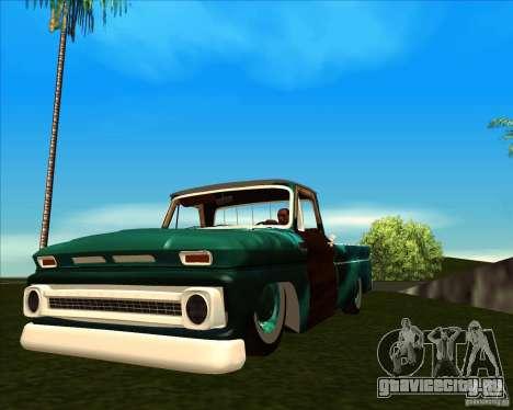 Chevrolet C10 Rat Rod для GTA San Andreas вид сзади