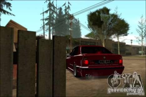 BMW M5 E34 Street для GTA San Andreas вид сзади